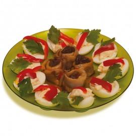 Farfurie pentru ouă şi gustări