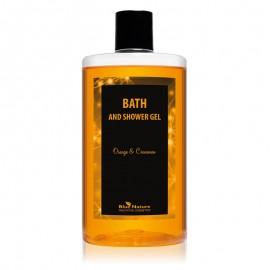Spumant de baie și duș cu aromă de portocală și scorțișoară, Bath and shower gel Orange & Cinnamon
