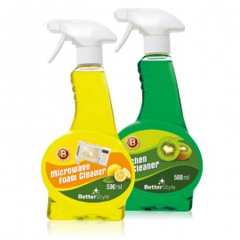 Lichid de curățare cu miros de kiwi + Spumă activă pentru curățarea cuptoarelor cu microunde