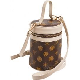 Geantă cosmetică în formă de cilindru