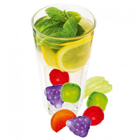 Cuburi colorate în formă de fructe pentru răcirea băuturilor şi cocktailurilor