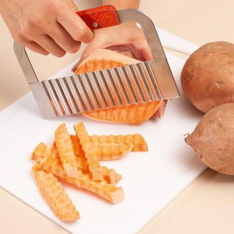 Cuţit ondulat pentru brânză şi legume
