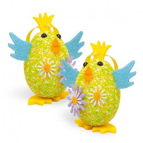 Puişori - ouă de paşte cu pandantiv