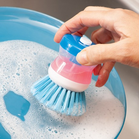 Perie cu dozator detergent pentru spălat vase