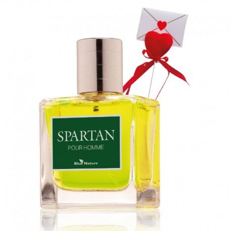 Spartan apă parfumată pentru bărbaţi + Inimă cu scrisoare