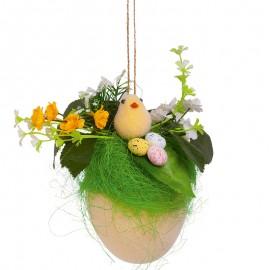 Oul cu un cuib - decoraţiune de agăţat