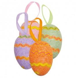 """Ouă de paşte - """"Valuri colorate"""""""
