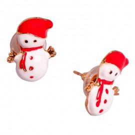 Cercei de Crăciun - Om de zăpadă