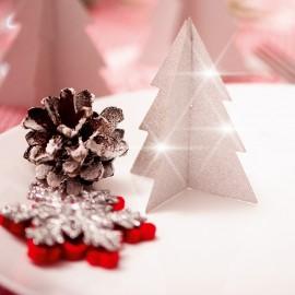 Copaci de Crăciun argintii pliabile