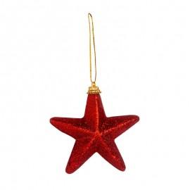 Globuri de Crăciun incasabile - stele roşii