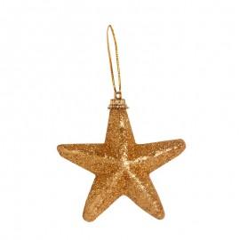 Globuri de Crăciun incasabile - stele aurii