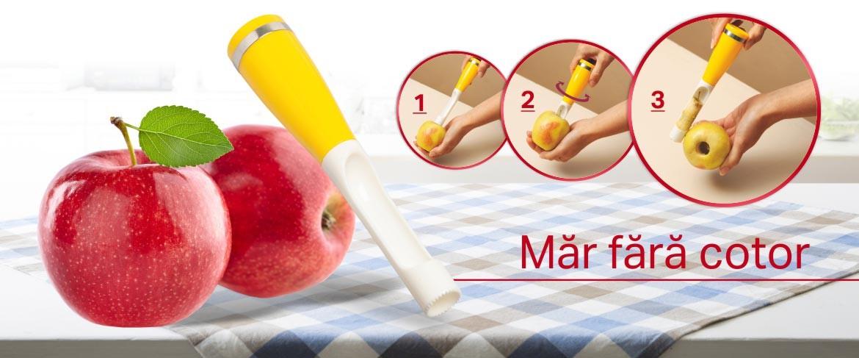 Dispozitiv de scos sâmburi de mere