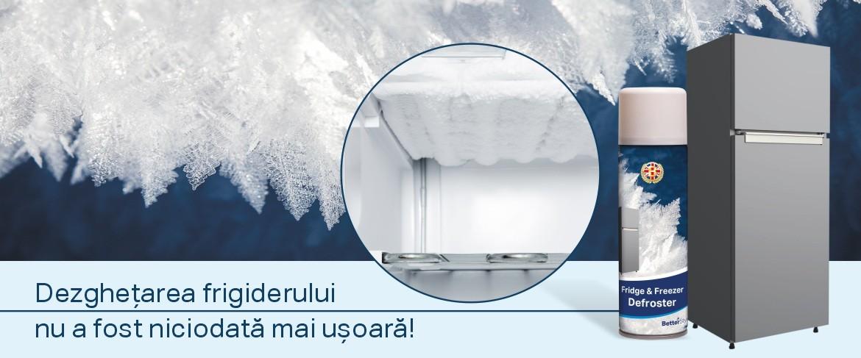 Spray de dezgheţat frigider şi congelator