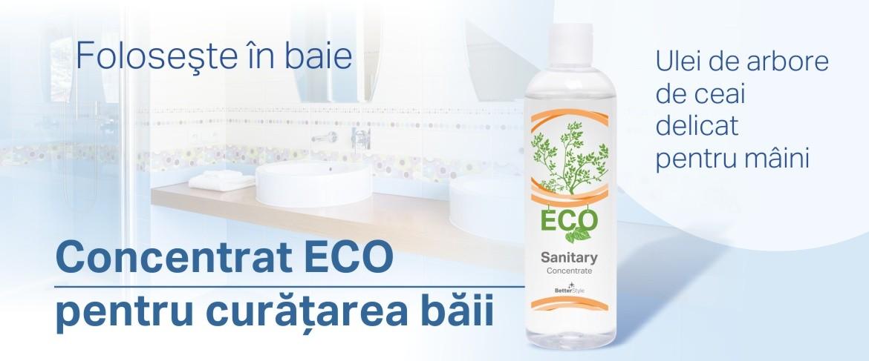 Detergent lichid ecologic pentru curăţarea băilor